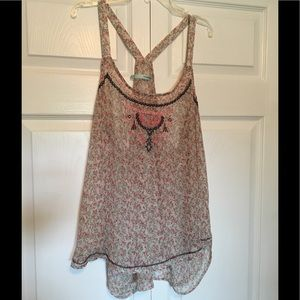 Maurice's flowy, sheer, floral tank NWOT XXL